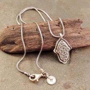 Silpada Sterling Silver Hamsa Pendant Necklace